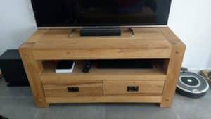 Meuble tv en chêne huilé